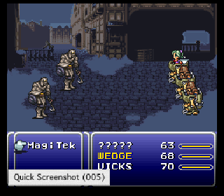 Screenshot Thumbnail / Media File 1 for Final Fantasy III (USA) [Hack by SageAcrin v1.06] (Evil Type)